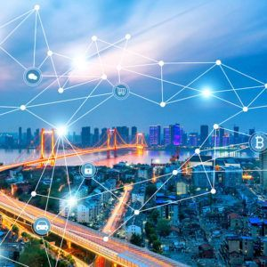 city showing supply chain interconnected between every facet of business life and more